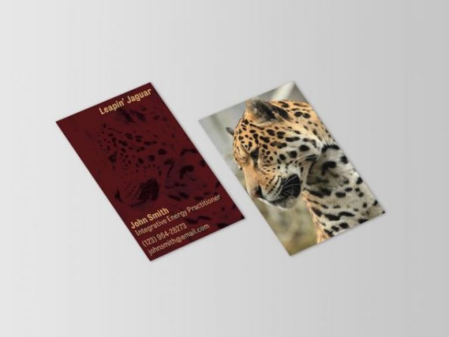 Leapin' Jaguar Business Card