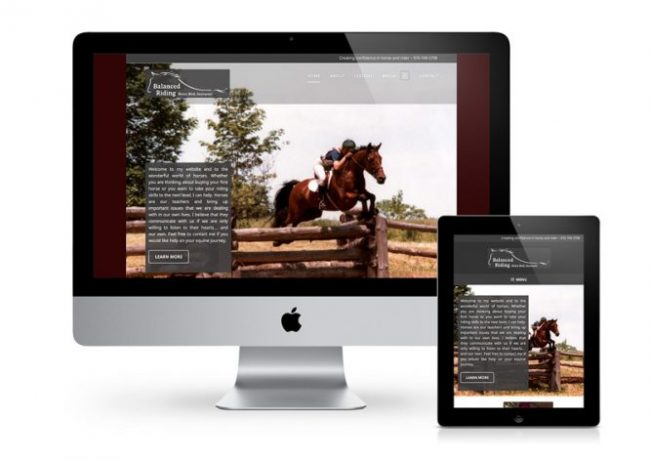 Balanced Riding Website Projects