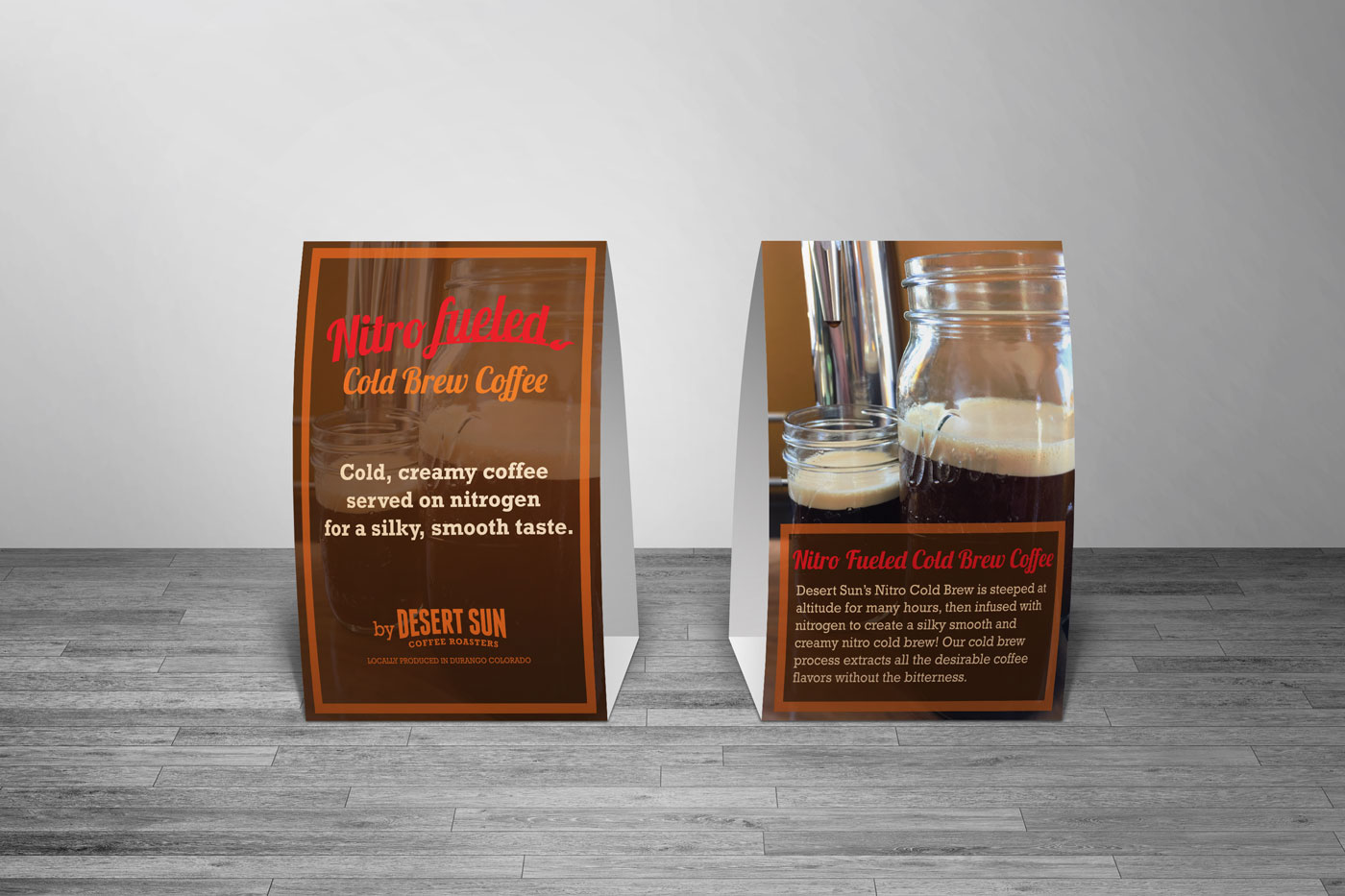 Table tent design for Nitro Cold Brew