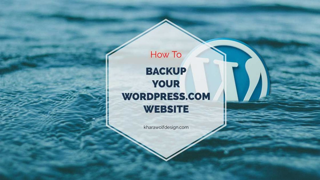 How to backup your wordpress.com website