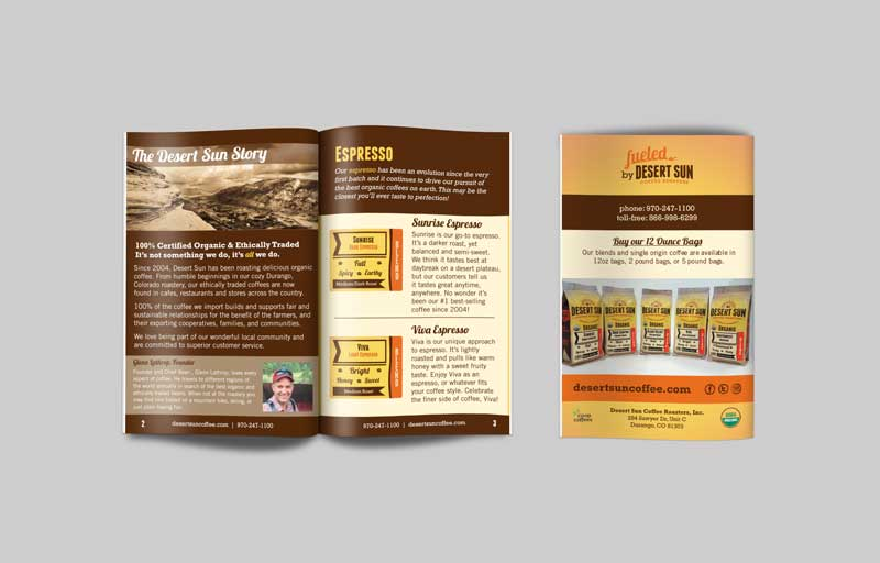 Desert Sun Coffee Guide Small Brochure