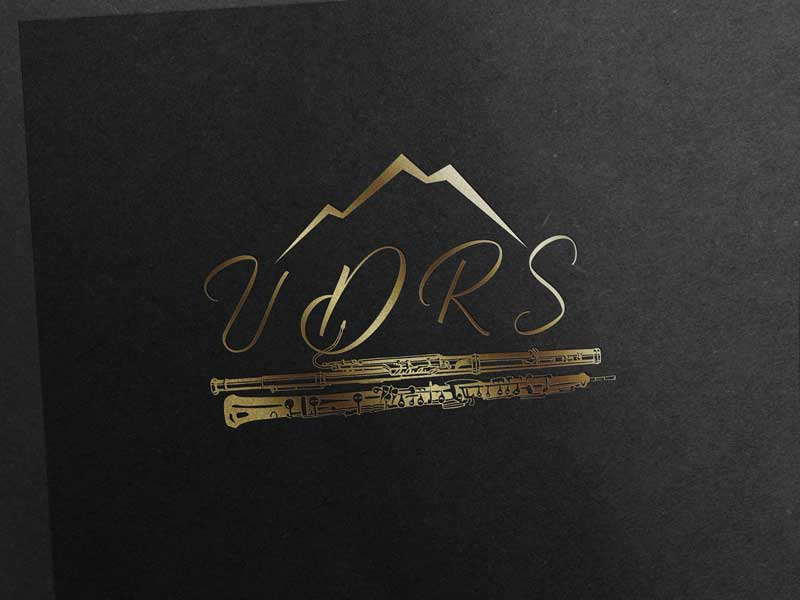 Utah Double Reed Society UDRS Gold Logo
