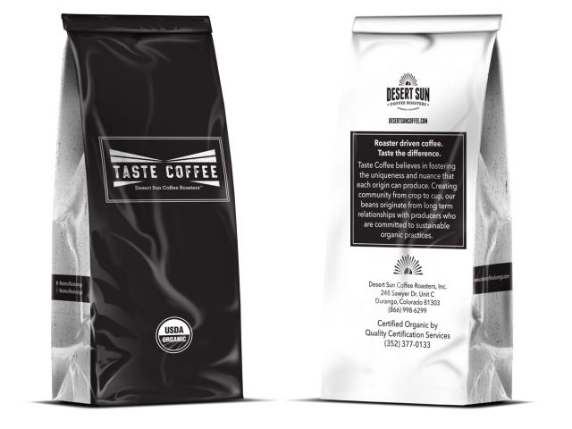 Custom bag design for Taste Coffee in Durango Colorado