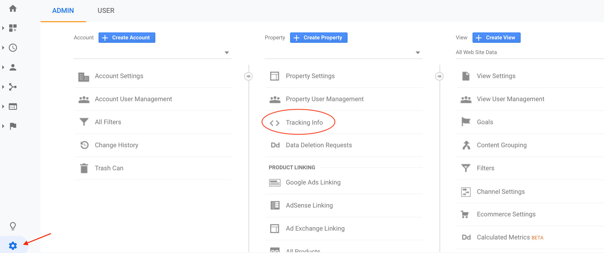 How to find the tracking code in google analytics